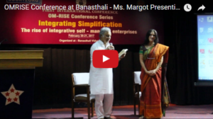 OMRISE Conference at Banasthali – Ms. Margot Presenting Book to Prof. Siddharth Shastri